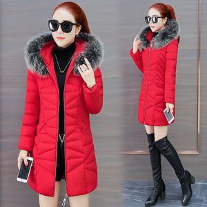 棉袄女中长款韩版收腰棉衣优雅女士端庄气质冬款矮小个子羽绒棉服