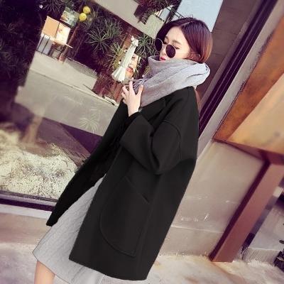 茧型呢子大衣毛呢大衣外套女