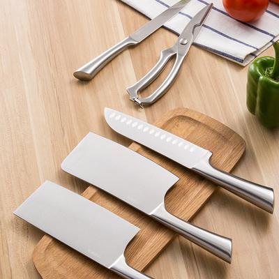 不锈钢空心柄刀具套装6件套刀菜刀水果刀砍刀剪刀