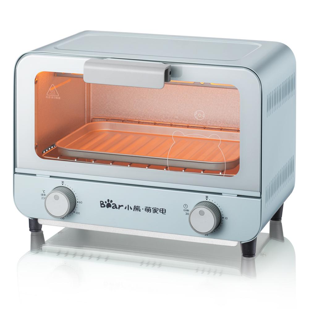 小熊电烤箱家用小烤箱烘焙多功能全自动小型迷你蛋糕9L控温烤箱
