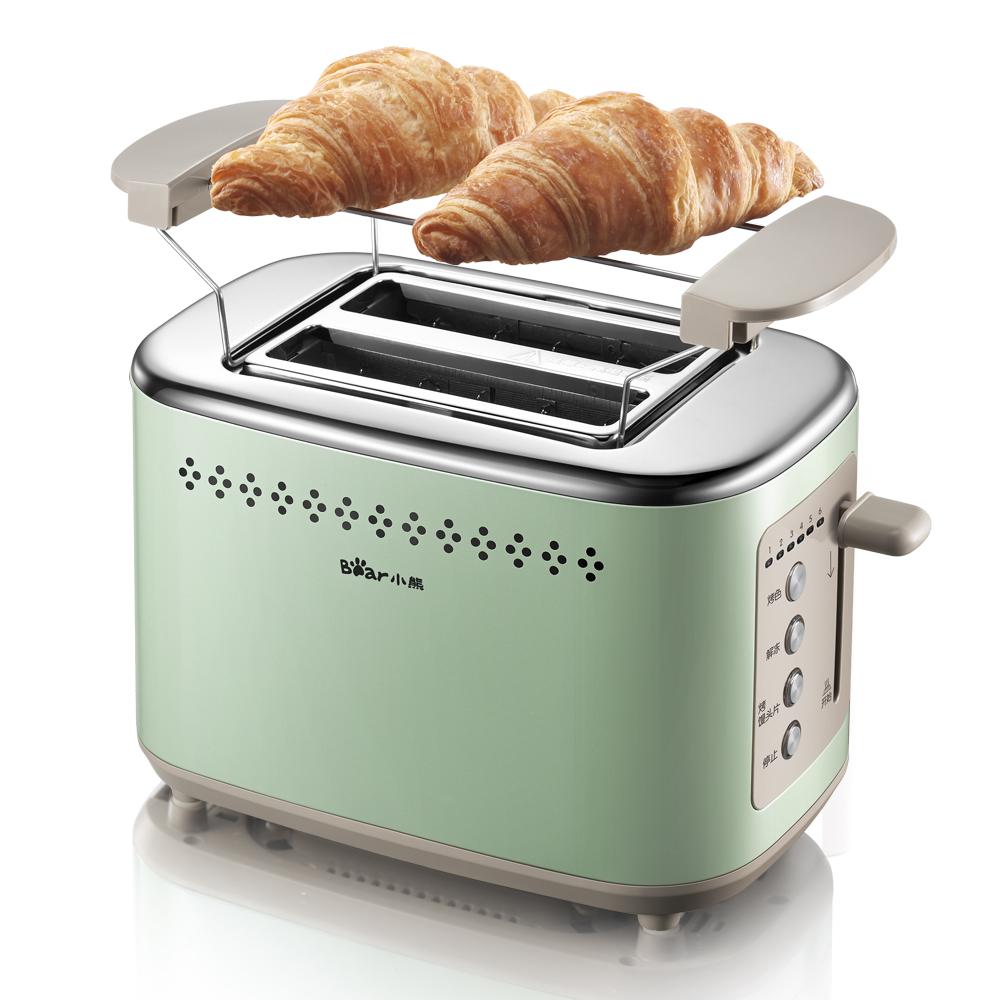 小熊多士炉不锈钢吐司机家用全自动2片防卡死双面6档烘烤烤面包机