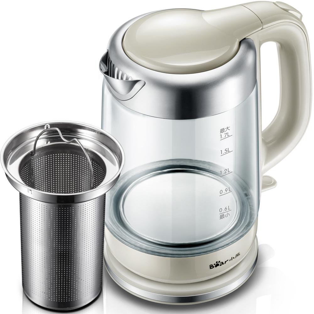 Bear-小熊 ZDH-A17A1家用电热水壶自动断电玻璃烧水壶电水壶