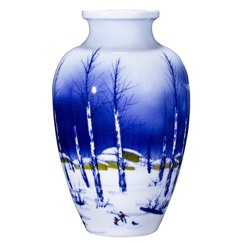 Jingdezhen ceramics furnishing articles by hand - made vases, flower arrangement sitting room of Chinese style household decoration decoration TV ark