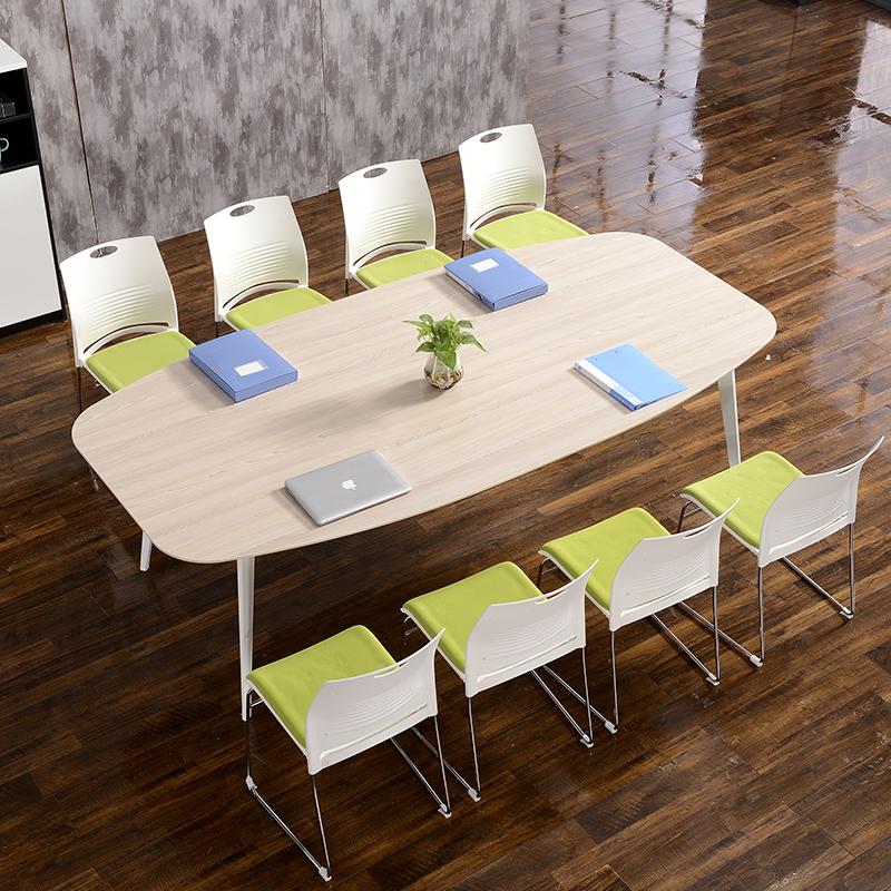 椭圆形会议桌长桌6人-10人小型洽谈桌桌椅组合简约现代板式长条桌