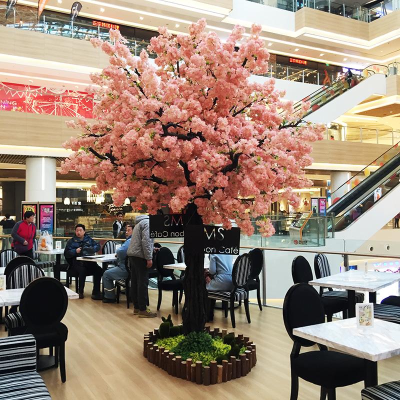 琪易仿真樱花树许愿树假树大型客厅酒店装饰假桃花树婚庆仿真桃树