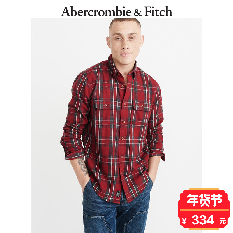 Winter Special Offer Abercrombie & Fitch men's flannel shirt 184212 AF