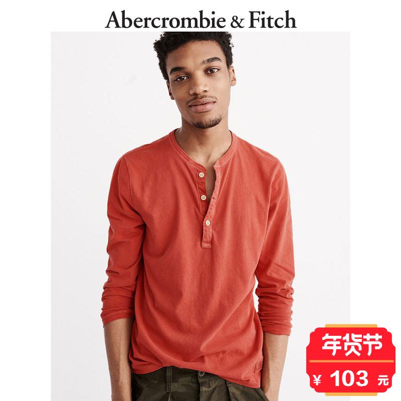 季末特惠 Abercrombie&Fitch 男装 成衣印染亨利式上衣135888 AF
