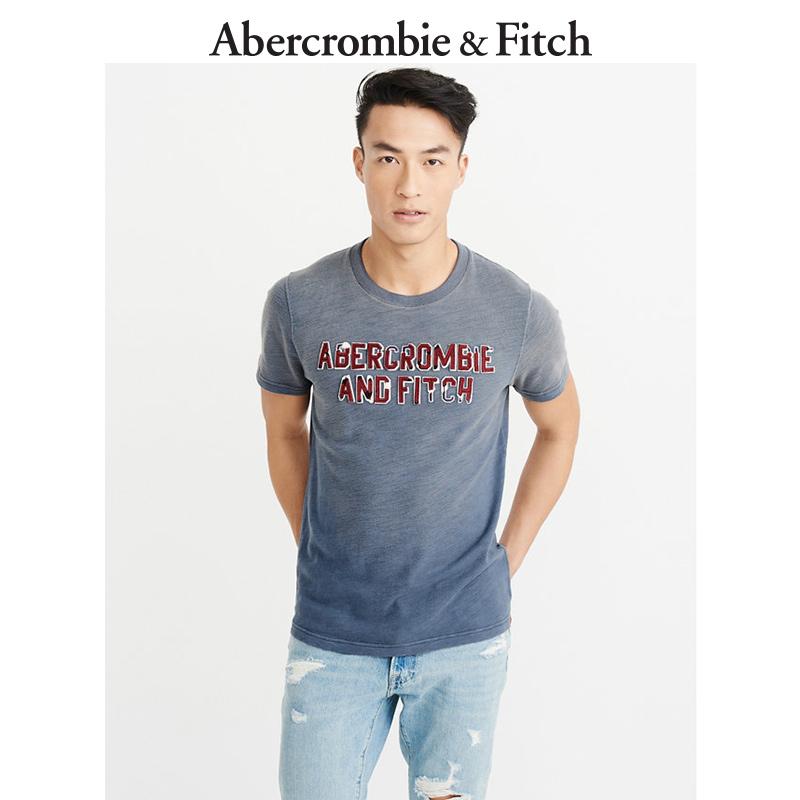 季末特惠 Abercrombie&Fitch 男装棉面料贴花T恤205726 AF