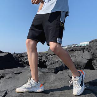 短裤男士裤子韩版潮流夏季沙滩裤七分宽松薄款五分休闲裤工装裤