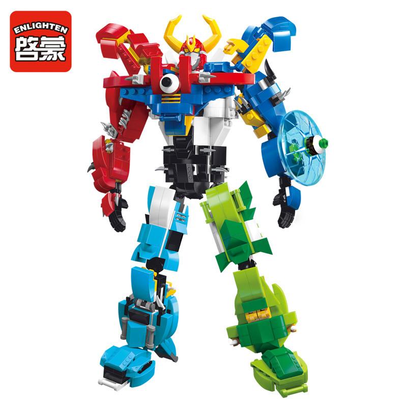 启蒙积木樂高玩具益智拼装变形机器人金刚6男孩子7组装8恐龙9岁10