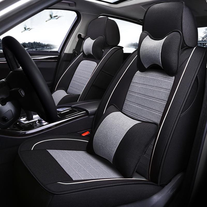丰田卡罗拉RAV4荣放凯美瑞专用布艺座套定做全包亚麻汽车座椅套垫