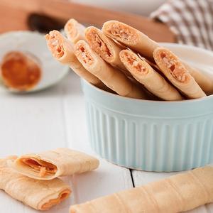 椰子味蛋卷520g香酥鸡蛋卷凤凰卷多比伦椰子卷夹心饼干礼盒装食品