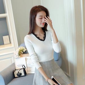 秋冬新款韩版短款毛衣打底衫女长袖套头修身显瘦针织打底衫外套