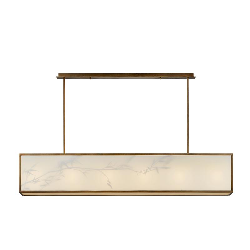 现代新中式轻奢简约创意个性设计师酒店客厅卧室餐厅书房布艺吊灯