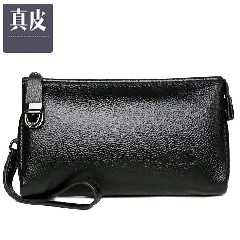 Клатч мужской кожа мягкой кожа сцепления сумка сумка с ремешком мужского бизнесом случайных руками мешка бумажники трубой Изображение 1
