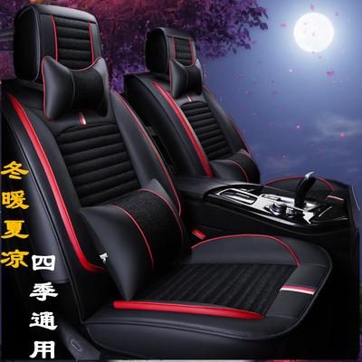 汽车坐垫四季通用全包围座椅套新款车垫亚麻布艺座垫专用座套冬季