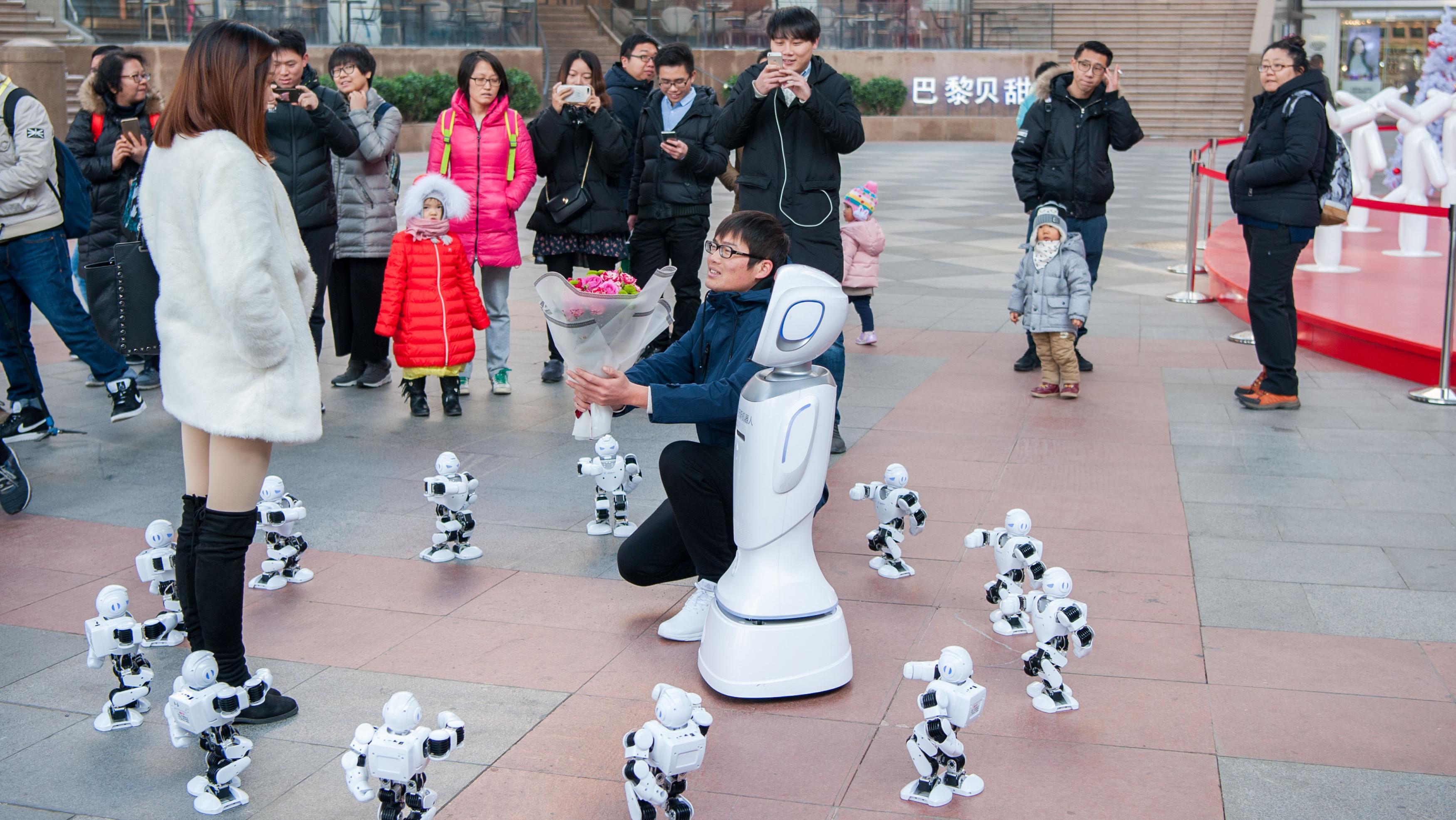 程序员求婚遭拒 女友:和机器人去过吧!