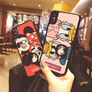 米妮黛西iphoneX手机壳6s全包苹果7plus黑边卡通可爱6p挂绳8p少女