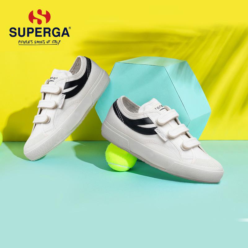 SUPERGA-圣佩伽 Panatta联名款 燕尾撞色魔术贴运动小白鞋男女款