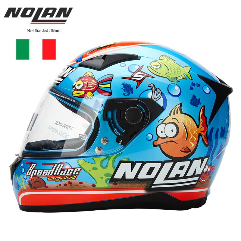 意大利NOLAN摩托车头盔男全盔女全覆式机车赛车四季防雾进口个性