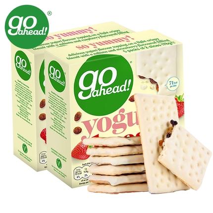 英国进口Go ahead网红水果悠萃酸奶夹心饼干178gx2盒休闲零食小吃