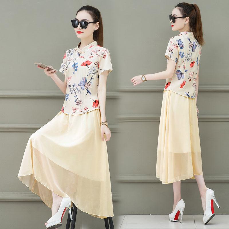 中国风减龄旗袍改良版连衣裙女装