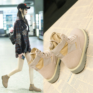 机车马丁靴女2018新款秋季短靴英伦风平底学生复古韩版百搭女靴子