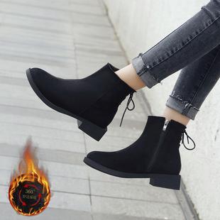 【鞋包】chic马丁靴女英伦风2018新款秋季网红学生韩版百搭女鞋冬靴子短靴