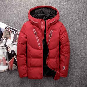 加拿大新款工装加厚羽绒服男士冬装户外羽绒服男 短款情侣外套