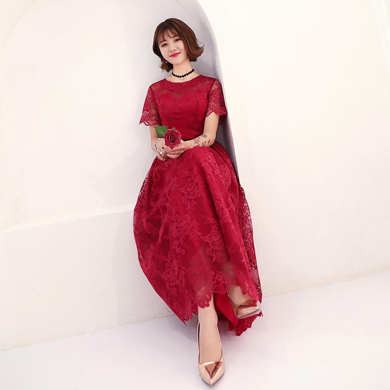 敬酒服新娘春季2018显瘦结婚新款夏季红色短款回门服订婚小礼服女