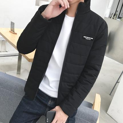 男士冬季外套2018棉服韩版潮流修身帅气立领加厚棉衣男装冬天棉袄
