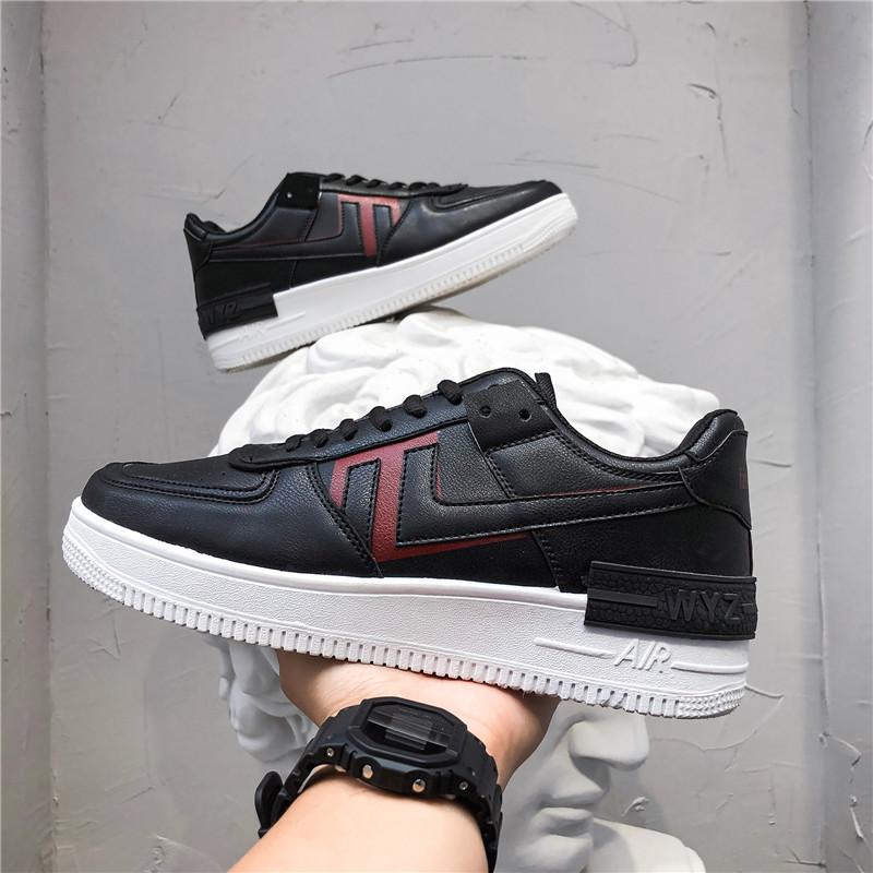 空军一号aj板鞋小白鞋2020新款韩版潮流百搭男鞋夏季休闲白鞋学生
