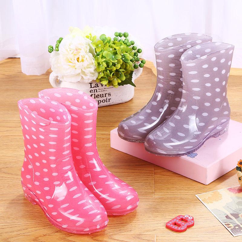 雨鞋防水鞋雨靴胶鞋水靴套鞋女成人厨房防滑工作韩版时尚短筒夏季