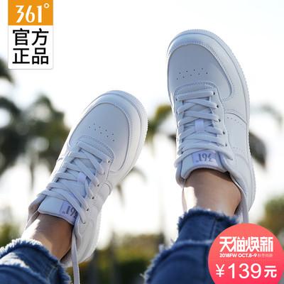 361板鞋女2018新款运动鞋子休闲小白鞋361度秋季白色空军一号女鞋