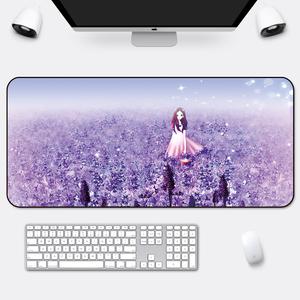 鼠标垫超大号可爱女生笔记本键盘垫锁边办公加厚卡通家用学生桌垫