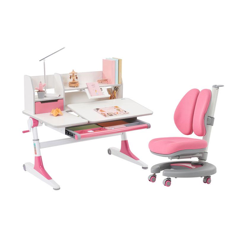 爱果乐儿童学习桌实木写字桌椅套装可升降