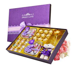 德芙巧克力礼盒新年圣诞情人节七夕元旦表白520送女友精美礼物