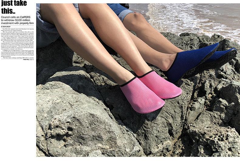 慈拓成人男女网面潜水浮潜袜鞋沙滩溯溪涉水泳鞋防滑儿童软底袜鞋_7折
