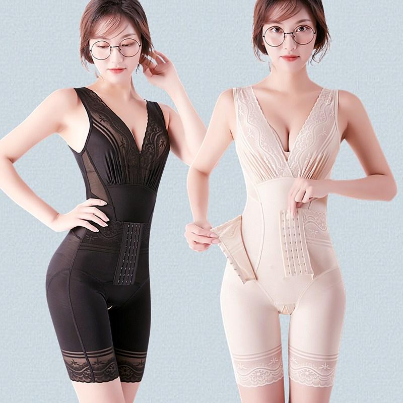 塑身衣女收腹束腰提臀燃脂美体塑形产后瘦身减肚子开档束身衣薄款
