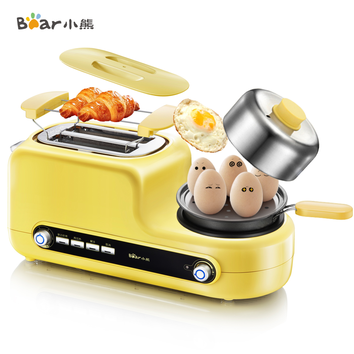 小熊多士炉烤面包机家用早餐吐司机全自动迷你考面包片机烤土司机