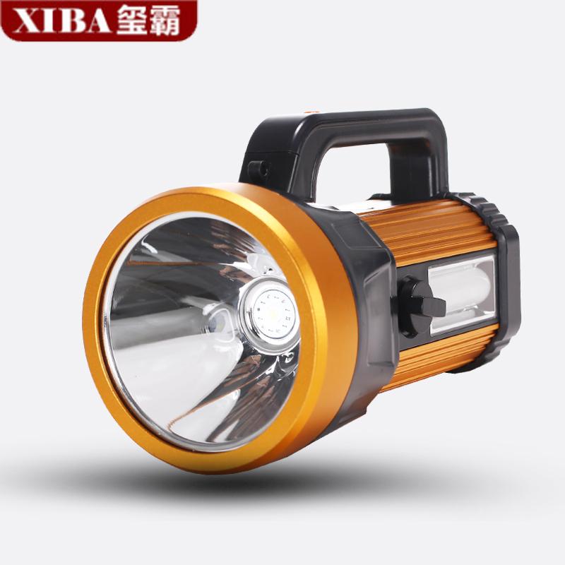 玺霸LED强光9000手电筒可充电探照灯超亮户外多功能手提矿灯