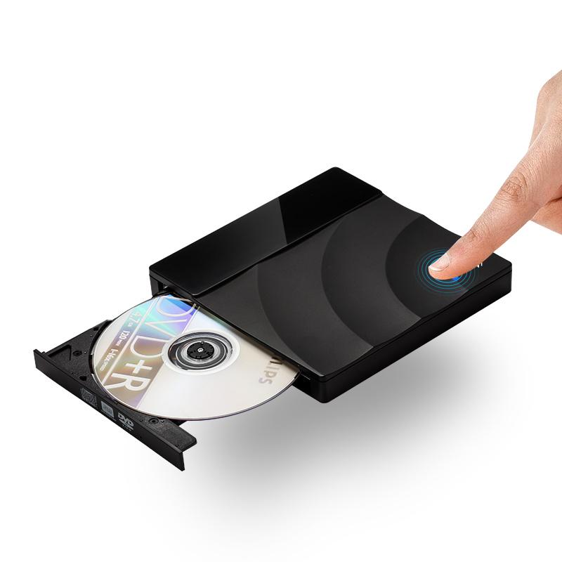 绿巨能触摸式DVD刻录机 USB3.0高速外置CD光驱笔记本电脑台式通用