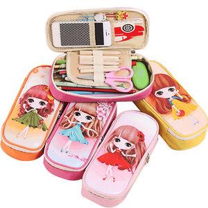 包邮卡通笔袋女男小学生文具盒大容量铅笔袋韩版文具简约笔袋