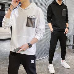 新款运动套装男春季卫衣卫裤圆领外套长裤跑步运动服两件套价格比较