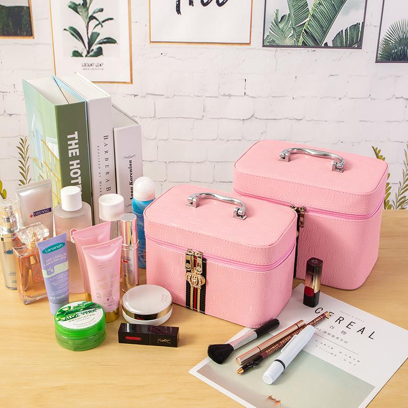 圣创ins大容量化妆包女便携多功能小号简约收纳盒网红洗漱手提箱