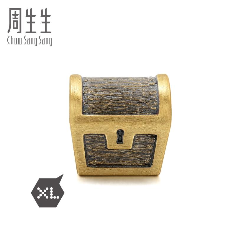 周生生黄金足金Charme XL 串珠海盗宝箱转运珠88687C