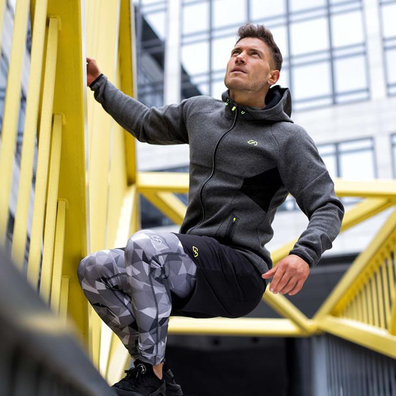 德国专业运动服饰品牌 Gym Aesthetics 男式连帽套头衫 运动健身卫衣 夹克 天猫优惠券折后¥99包邮(¥259-160)2款3色可选
