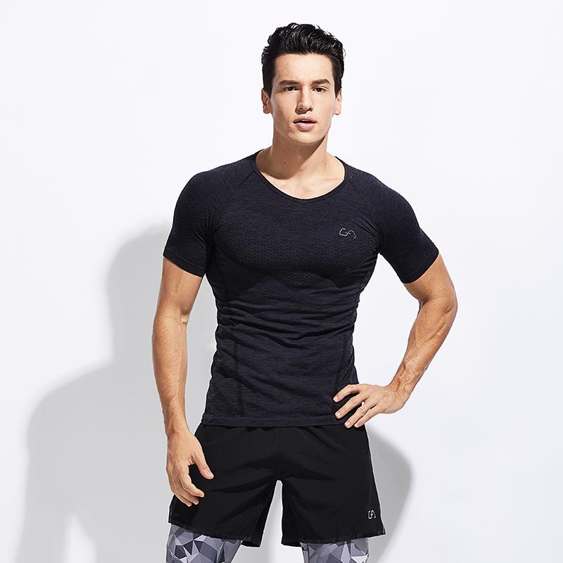 商场同款,德国GymAesthetics 男士 一体织运动紧身压缩衣
