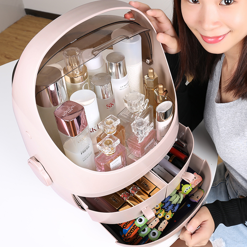 Net red cosmetics storage box drawer type desktop dressing table skin care products dust-proof lipstick brush acrylic rack