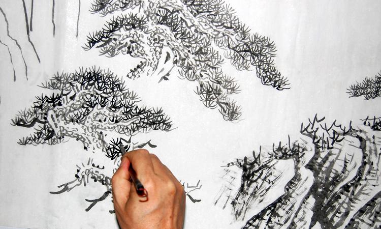 ◥◣江南风画廊◢◤范文波06523山水画国画中国画纯手绘国画斗方图片